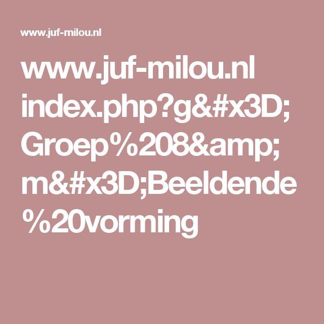 www.juf-milou.nl index.php?g=Groep%208&m=Beeldende%20vorming