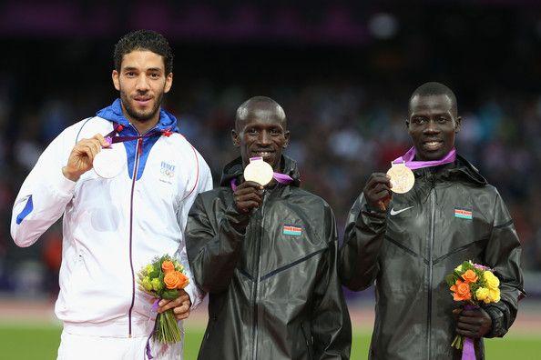 Ezekiel Kemboi and Mahiedine Mekhissi-benabbad Photo - Olympics Day 10 - Athletics