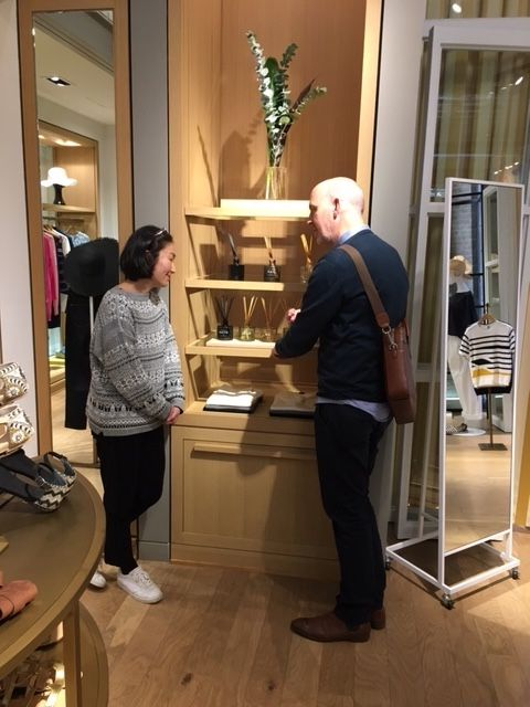 A productive day with Cie Luxe Brands Founder Chris Tilker and SKANDINAVISK founder Shaun Russell on a walking NYC retail tour. *Shaun conversing with the team at Tomorrowland, SoHo.  Photo by Chris Tilker www.SKANDINAVISK-USA.com #CieLuxe #CieluxeBrands #SKANDINAVISK