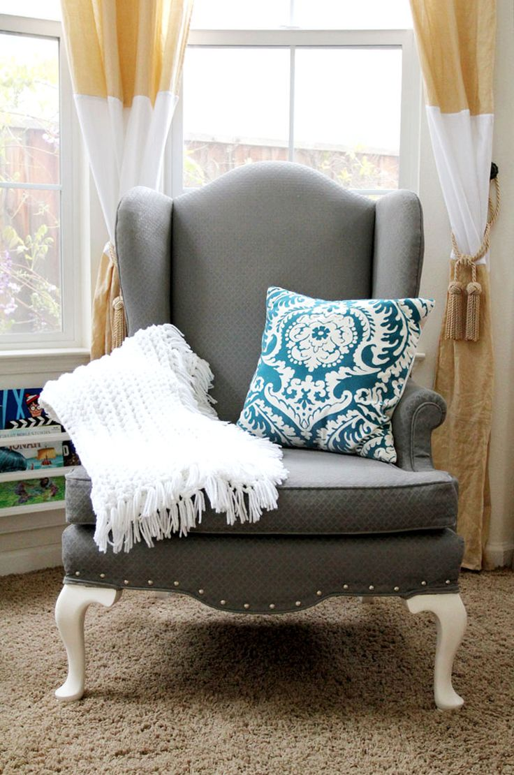 25+ Best Ideas About Painted Fabric Chairs On Pinterest