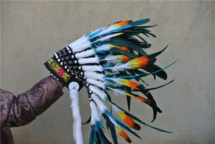 21inch Turquoise Feather Headdress //Price: $101.50 & FREE Shipping //     #edmfamily