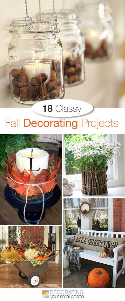18 Classy Fall Decorating Projects • Tons of great Ideas and Tutorials! • Make sure you check out both part 1 and part 2!