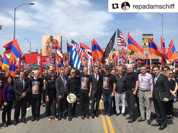 #Repost @repadamschiff ・・・ We march to honor, to remember, and to demand justice for the 1.5 million Armenian men, women and children slaughtered in the Armenian Genocide.