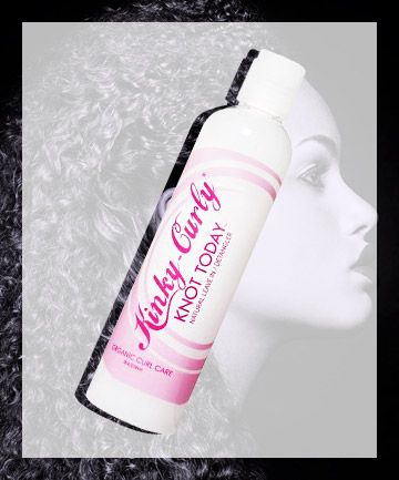 After washing your hair with a cleansing conditioner, follow with a traditional conditioner, then rinse. Once you've lightly toweled off your hair (scrunch, don't rub, to avoid frizz), run a curl cream or other detangling product through your hair, working the it through with your fingers or a wide-tooth comb. Look for products that contain shea, jojoba or coconut oil.