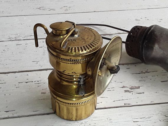 Antique Brass Guys Dropper Carbide Coal Miner Lantern Miner S Helmet Lamp Made In Usa Collectible Decor Steampunk Repurpose Pro Brass Lamp Oil Lamps Antiques