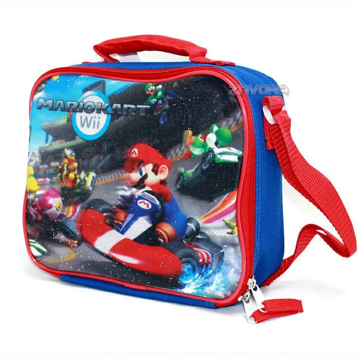 Super Mario Bros Mario Kart Insulated Lunch Bag Box, $7.99