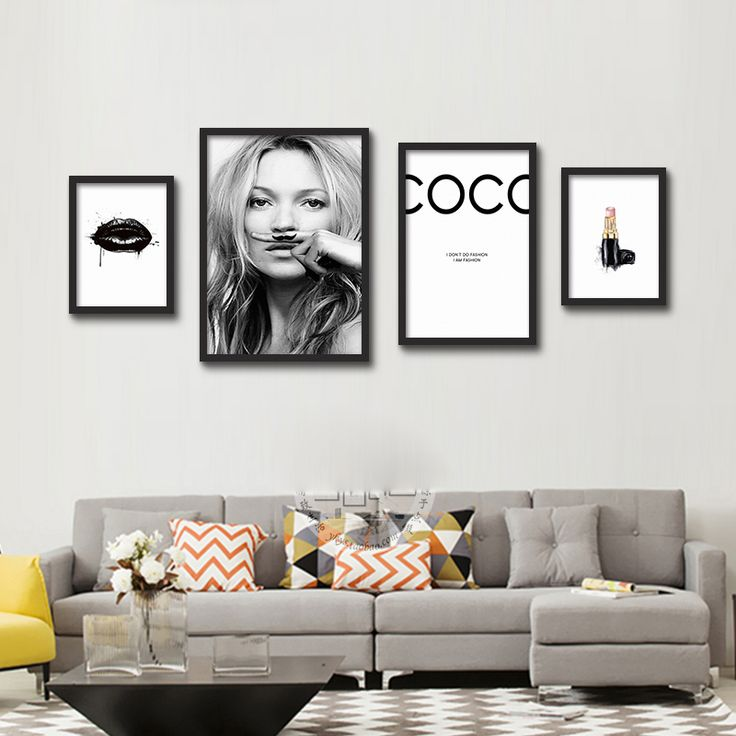 Cheap art poster, Buy Quality wall painting directly from China painting art Suppliers: Big Print Wall Painting Art Poster Photograph of Kate Moss Life is a joke For Lijst IN Wall Pictures Cuadros Decoracion no frame