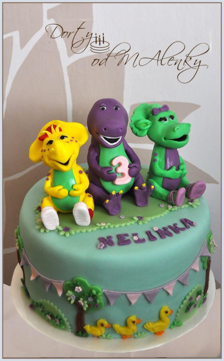 Barney a přátelé pro holky, Cake Barney and friends for girls, Barney fondant