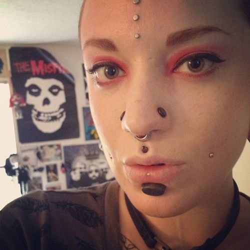 gorgeous stretched nostrils philtrum and labret with
