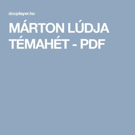 MÁRTON LÚDJA TÉMAHÉT - PDF