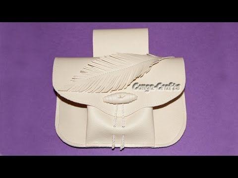 Gürteltasche Foldy aus Kunstleder Mittelalterstil / belt bag from faux l...