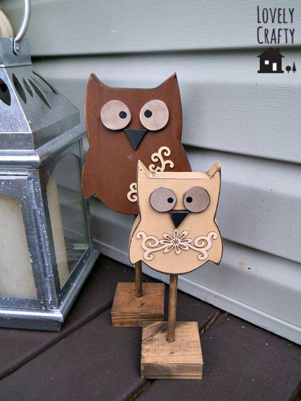 Die besten 25+ Wooden owl Ideen auf Pinterest Eulen dekorationen - coole buchstutzen kreativ dekorativ stabil