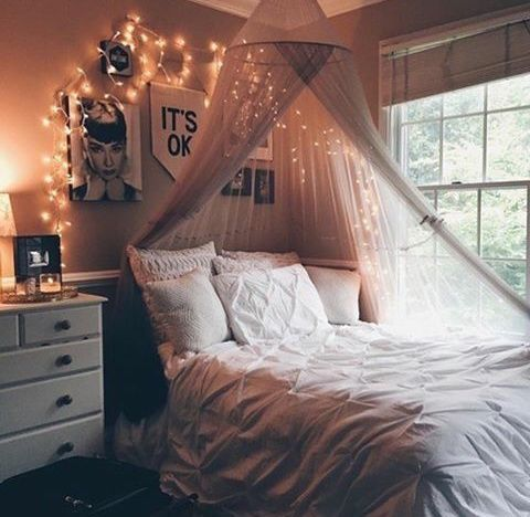 Imagen de room, bedroom, and light