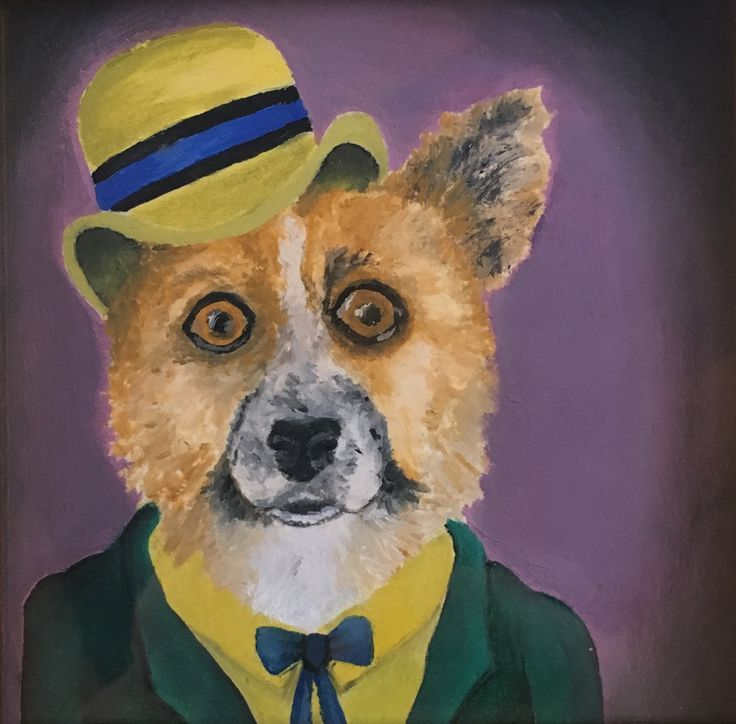 Inspector Niles  2017 Sydney Royal Easter Art Show.  Oil on canvas, 10 x 10 cm