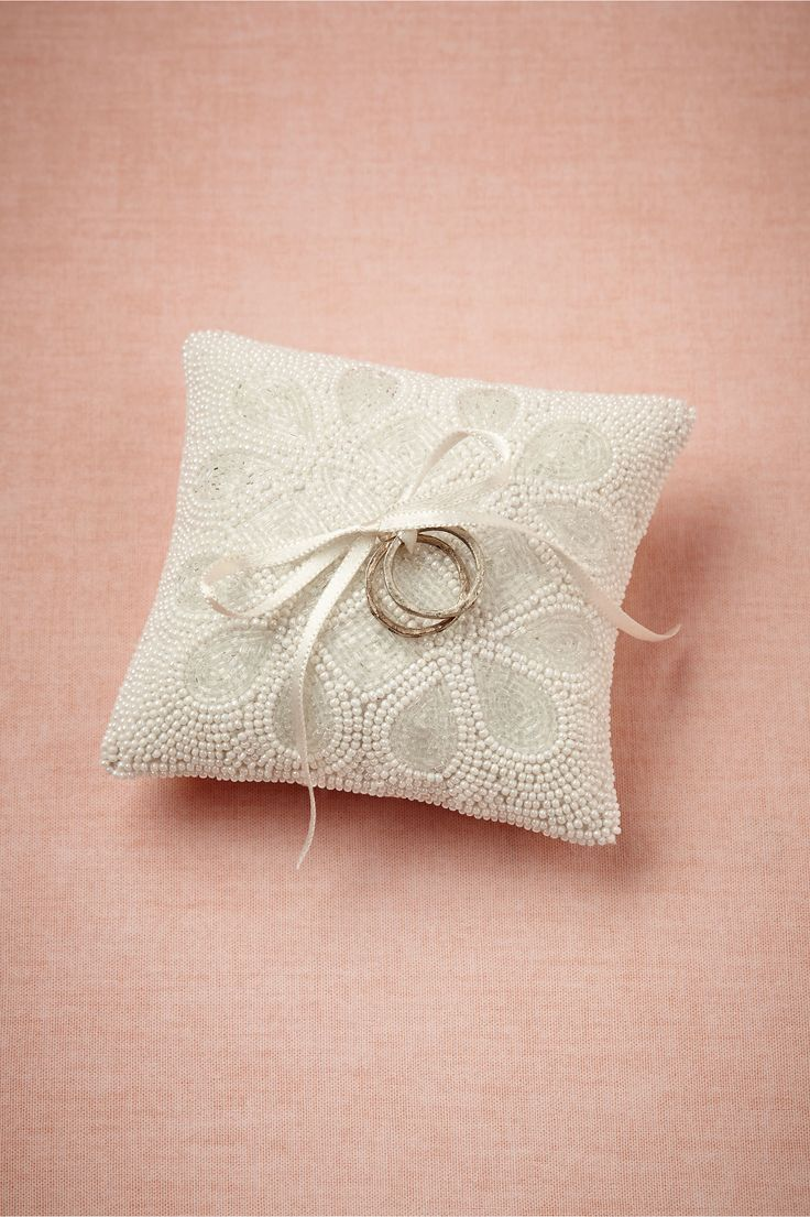 Ice Drops Ring Pillow from BHLDN