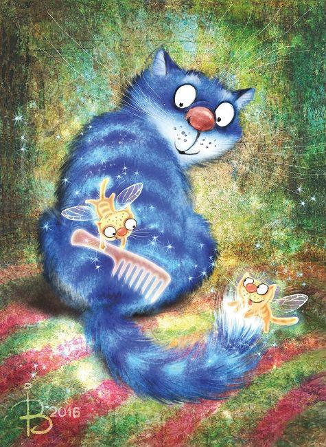 Cat...grooming-kitty-fairies