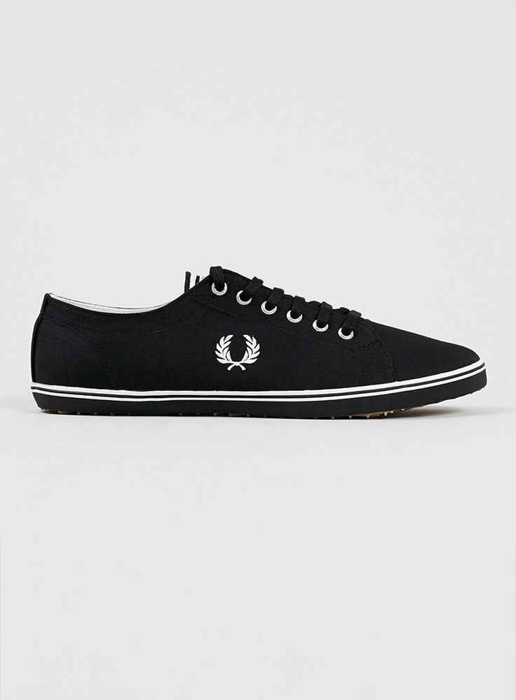 Fred Perry 'Kingston' Black Canvas Trainers