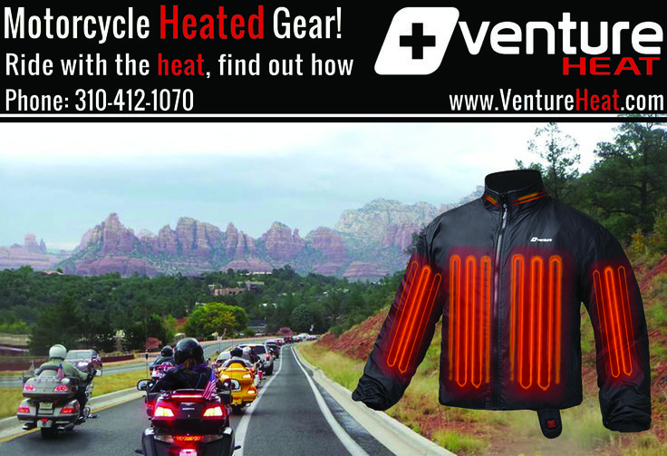 Venture Heat® Motorcycle Heated Gear!  Ride with the heat, find out how!  at www.ventureheat.com  Venture Heat® 3621 Serpentine Drive, Los Alamitos, CA 90720 (877) 261-9477 (310) 412-1070  Venture Heat® - Motorcycle Heated Jacket Liners - Heated Clothing Gear - Heated Gloves- Heated Mittens - Heated Motorcycle Pant Liners - Heated Jackets - Heated Hoodies - Heated Sweaters - Heated Gloves - Heated Mittens - Heated Clothing   #HeatedClothing #VentureHeat #HeatedJackets #HeatedVests…