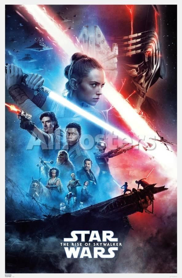 Star Wars The Rise Of Skywalker Official One Sheet Posters Allposters Com In 2020 Star Wars Episodes Star Wars Watch Star Wars Movie
