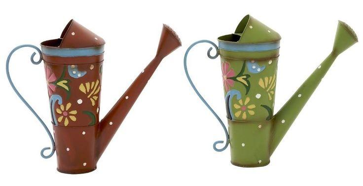 Metal Watering Cans Set of 2 Vintage Garden Flower Home Lawn Decor Patio Rustic  #Studio360