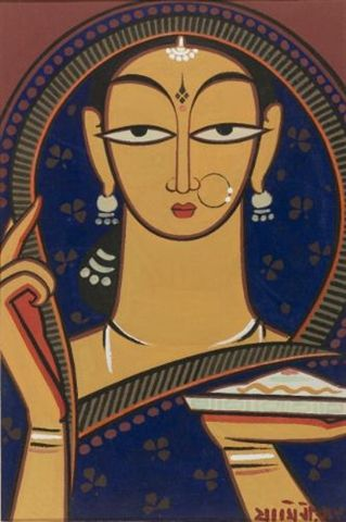 Jamini Roy - Untitled (Woman)