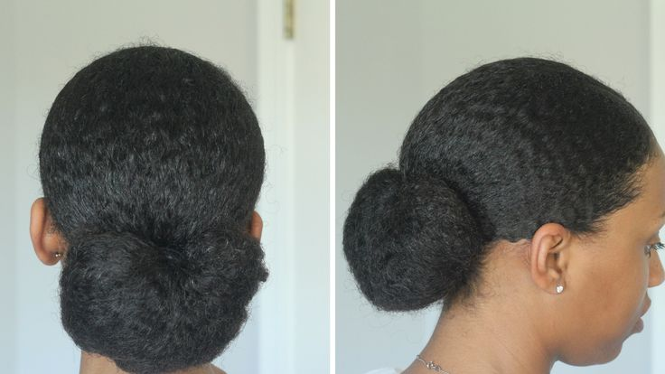 My Sleek Low Bun Tutorial On Natural Hair