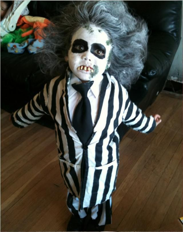 pin for later 21 diy kidsu0027 halloween costumes recycled from things you already have baby beetlejuice