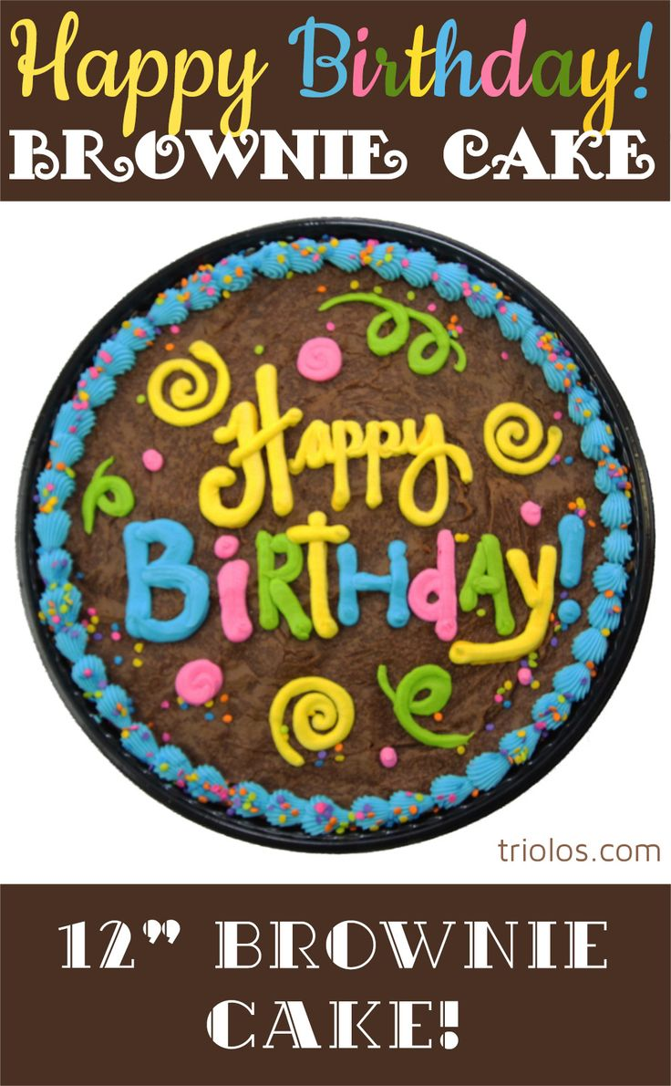 Send a delicious Happy Birthday Brownie Cake to a lucky birthday boy or girl. We took our classic Chewy Brownie recipe and put it in a 12″ pan. Decadent chocolate topped with a beautiful design makes this Brownie Cake a gourmet gift.