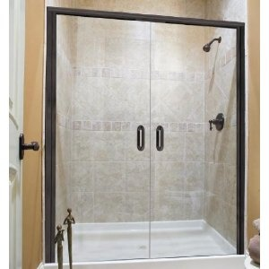 Basco Infinity French Shower Door 1422 1722 Obscure Gl Silver With 1 4 Thick Frameless The Swinging E