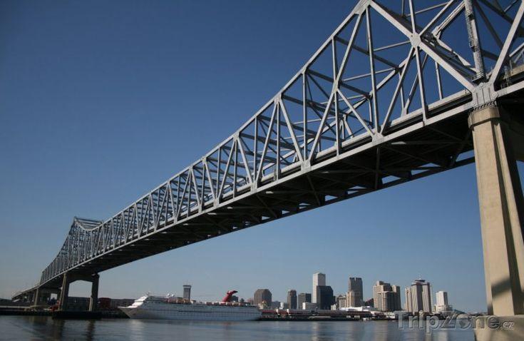 Fotka, Foto Most přes řeku Mississippi (New Orleans, USA)