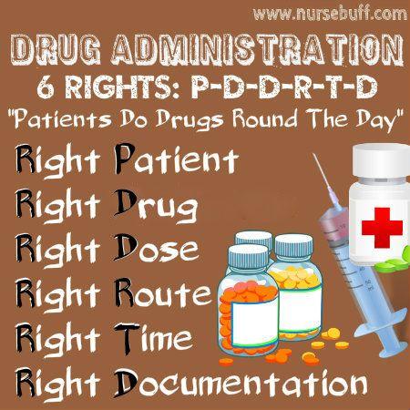 6 rights of drug administration nursing mnemonic http://tmiky.com/pinterest