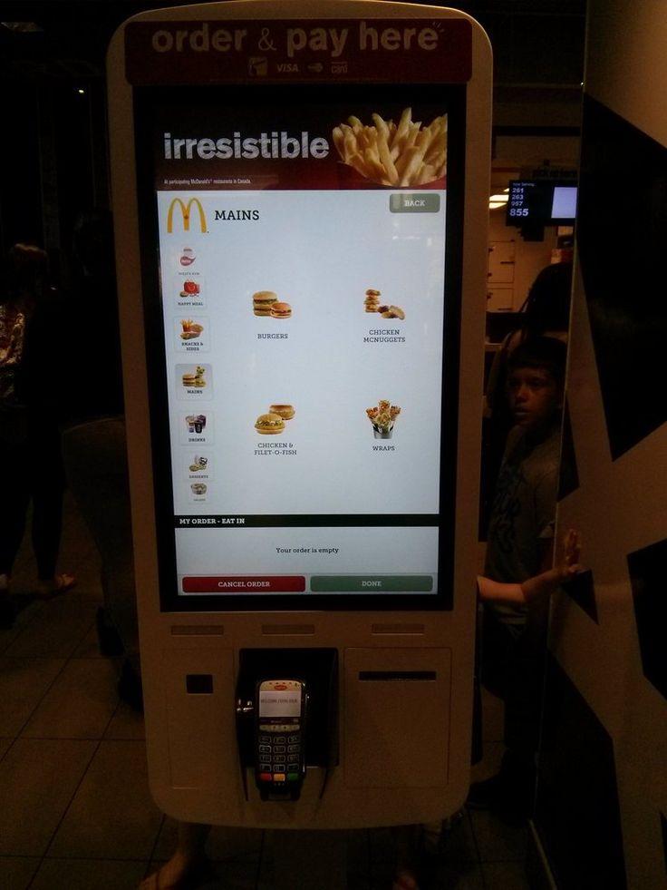 McDonalds - Toronto, ON, Canada. Huge tablet self serve order