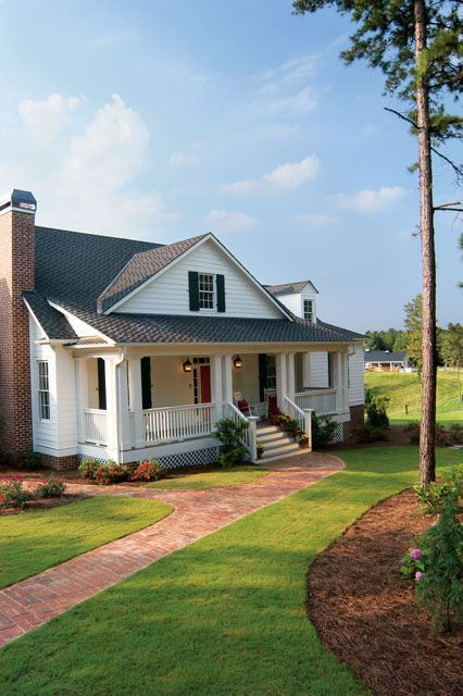 Southern Living home plans.  This looks soooo homey