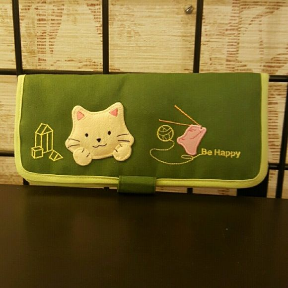 "Happy cat wallet Green . Brand new. 7"" * 4"" * 1"" Bags Wallets"