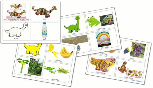 Imagier Pop mange de toutes les couleurs et brevet langage associé
