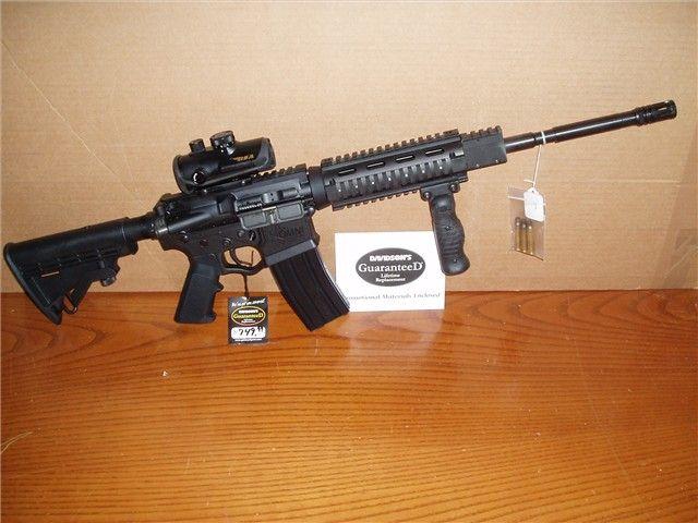 AR15 223 556 QUAD RAIL W/SCOPE AR-15 UPPER LOWER : Semi Auto Rifles at GunBroker.com