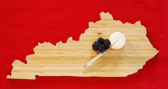 KY cutting board - with a heart over the location of your choice