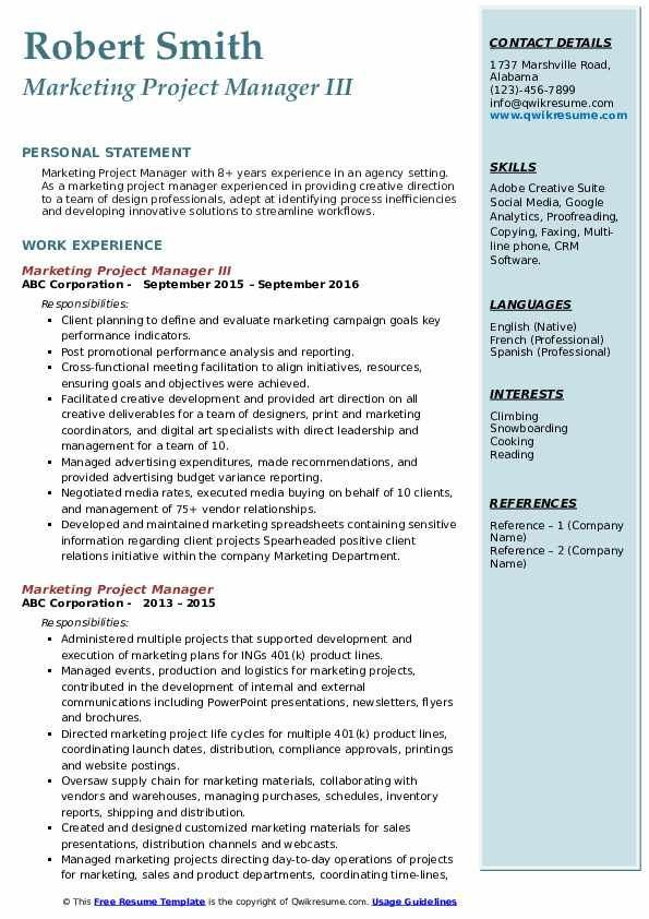 Marketing Manager Resume Summary Examples In 2021 Business Analyst Resume Business Analyst Marketing Resume