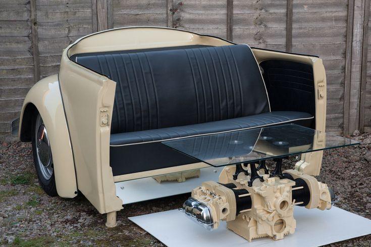 VW Beetle Sofa und Couchtisch – Silverstone Auctions #VWNewBeetleInterior