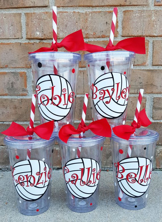 Personalized Acrylic Volleyball Team Tumbler / by BurlapAndBelle