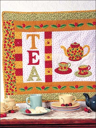 48 best images about wall hanging on pinterest quilt for Quilted kitchen set