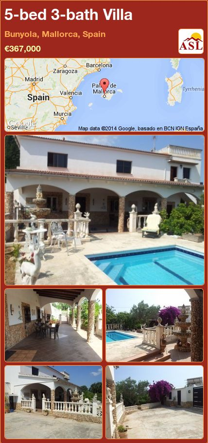 5-bed 3-bath Villa in Bunyola, Mallorca, Spain ►€367,000 #PropertyForSaleInSpain