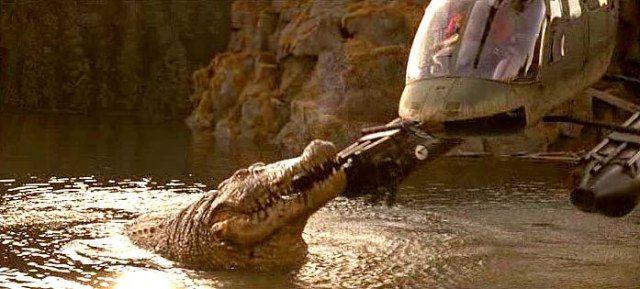 """Lake Placid"" (1999) Crocodile vs Helicopter #LakePlacid"