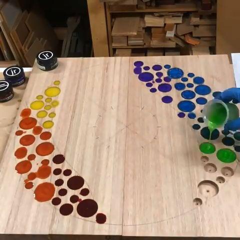 #inspiration #woodworking #colourful #heybluey #bringing