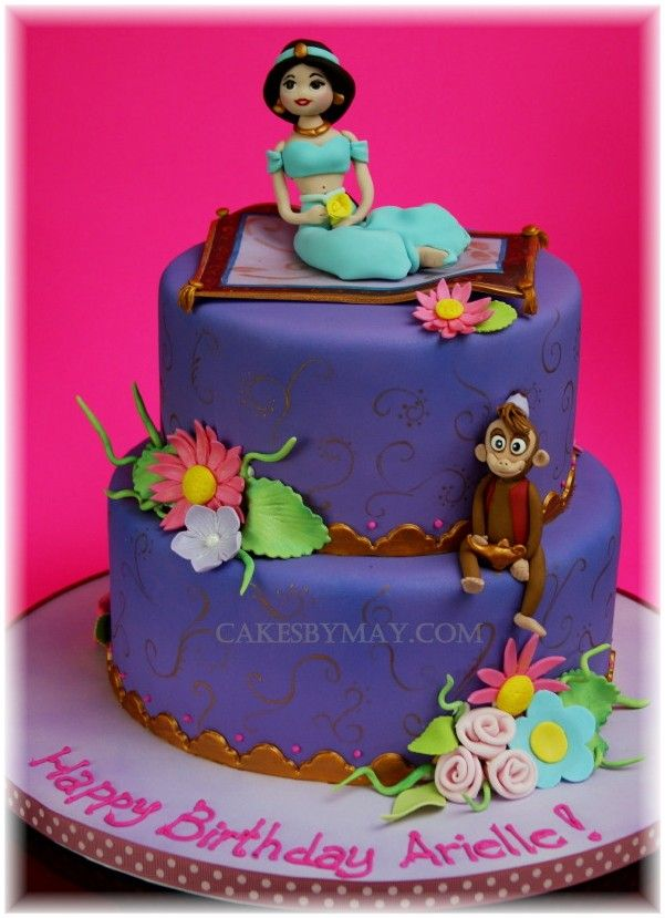 Princess Jasmine Birthday Cake The Jasmine Is A Little