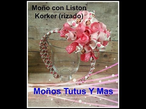 MOñO KORKER con LISTON RIZADO Paso a Paso HOW TO MAKE KORKER BOW Tutorial DIY How To PAP - YouTube