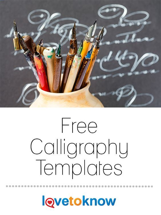 """The Greek word """"calligraphy"""" translates to """"beautiful writing."""" Calligraphy allows you to create gorgeous wedding invitations, pretty cards, or special documents. If you're just learning how to write calligraphy, or if you need a different style, a calligraphy template can help you get the results you desire.   Free Calligraphy Templates from #LoveToKnow"""