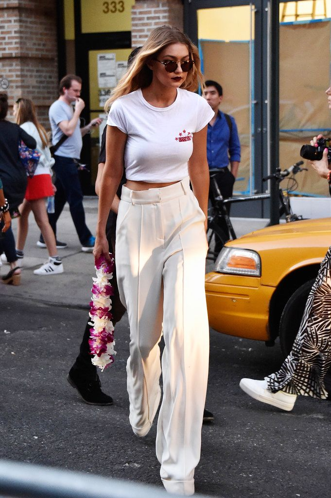 runwayandbeauty:  Gigi Hadid outside Anna Sui Show, New York Fashion Week Spring 2016, September 16, 2015.