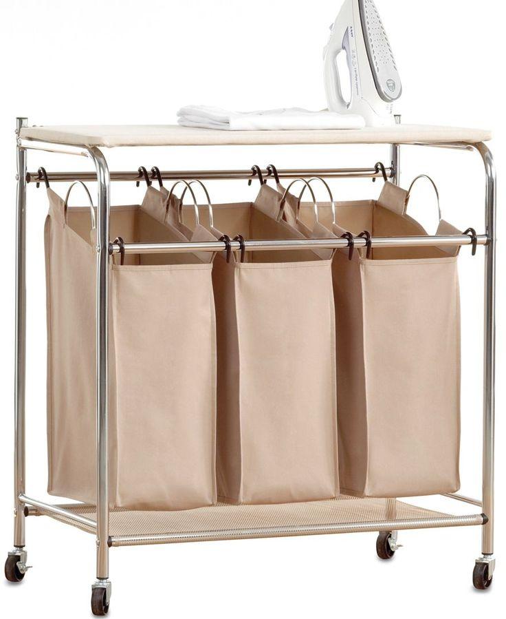 neatfreak hampers everfresh laundry triple sorter with ironing board ironing board storage. Black Bedroom Furniture Sets. Home Design Ideas