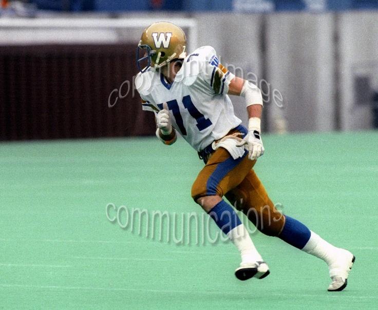 Joe Poplawski Winnipeg Blue Bombers 1986. Photo F. Scott Grant